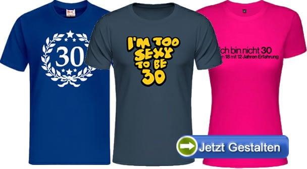 30-Jahre-Shirts