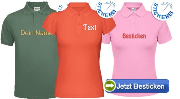 Bestickte-Polos