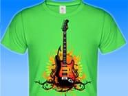 Gitarre-auf-Shirt