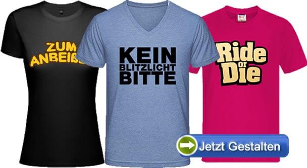 T-Shirts-mit-Slogan